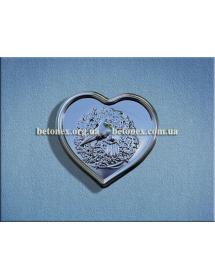 Форма барельефа, панно КОД 11.05 - Сердечко-голуби