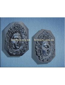 Форма барельефа, панно КОД 11.10 - Будда-лицо